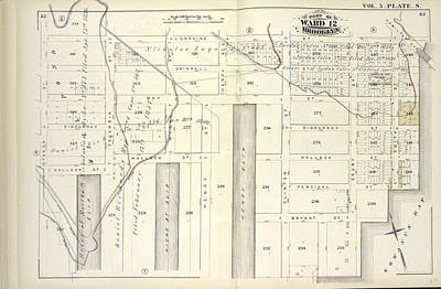 Bryant Drawing - Vol. 5. Plate, S. Map Bound By Lorraine St., Hamilton Ave by Litz Collection