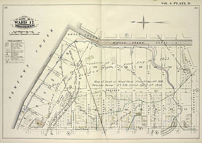 Creek Drawing - Vol. 6. Plate, D. Map Bound By Whale Creek Canal, Green by Litz Collection