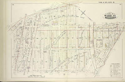 Vol. 6. Plate, R. Map Bound By Broadway, Middleton St Art Print by Litz Collection