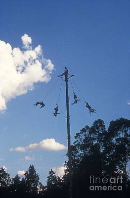 Photograph - Voladores El Tajin Mexico by John  Mitchell