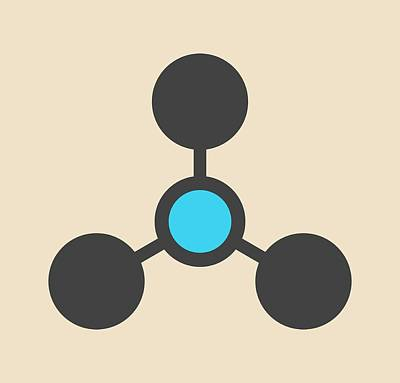 Volatile Tertiary Amine Molecule Art Print by Molekuul