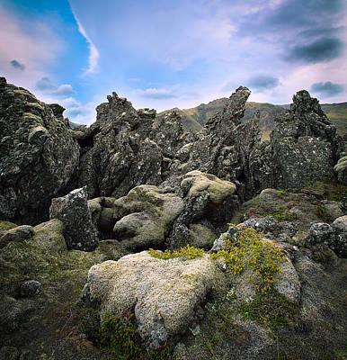 Volcanic Basalt Lava Landscape Art Print by Dirk Ercken
