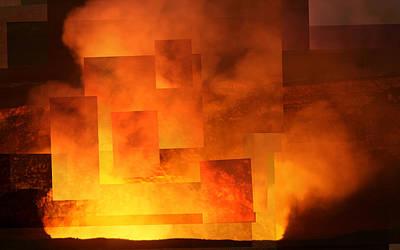 Photograph - Volcanic Fire - Kilauea Caldera  by Stephen Farley