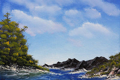 Volcanic Rock Lagoon Art Print