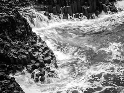 Volcanic Rocks And Water Art Print