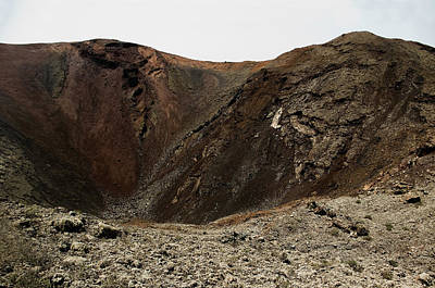 Vulcan Park Photograph - Volcano Crater In Timanfaya Natural Park Lanzarote by Weston Westmoreland