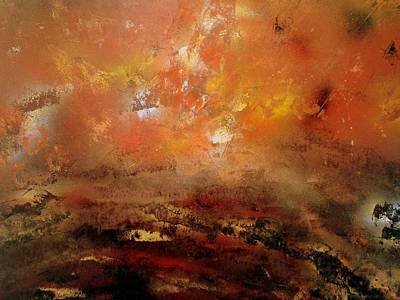 Painting - Volcano Eruption by Gerry Smith