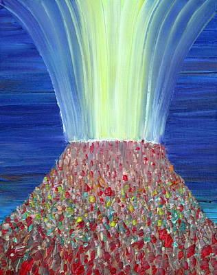 Vulcan Painting - Volcano by Fabrizio Cassetta