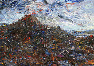 Costa Rica Painting - Volcano by James W Johnson