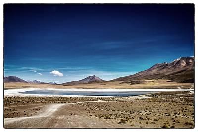 Volcano Lagoon Bolivia Framed Art Print by For Ninety One Days