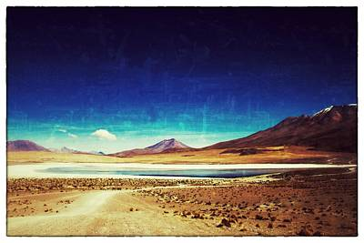 Photograph - Volcano Lagoon Bolivia Vintage by For Ninety One Days
