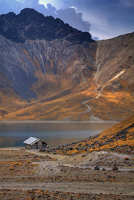 Cabin Photograph - Volcano Lake by Genaro Rojas
