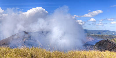 Photograph - Volcano Masaya Panorama by Mark E Tisdale