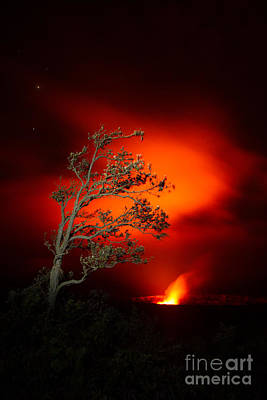 Volcano National Park Glow All Profits Go To Hospice Of The Calumet Area Art Print