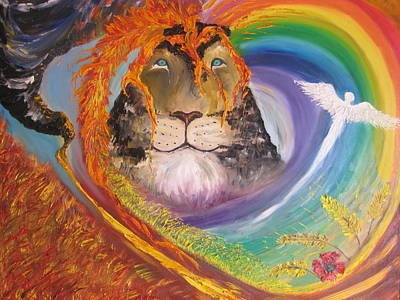 Hope Painting - Volcano Of His Glory by Rachael Pragnell