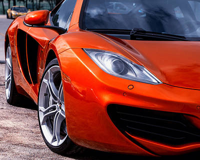 Photograph - Volcano Orange Mclaren Mp4-12c by Alan Raasch