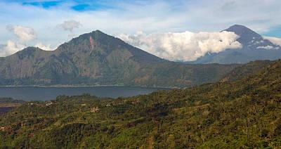 Art Print featuring the photograph Volcanoes - Bali by Matthew Onheiber