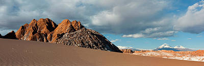 Volcanoes Licancabur And Juriques Seen Art Print by Panoramic Images