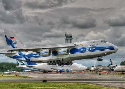 Art Print featuring the photograph Volga-dnepr An124  by Jeff Cook