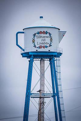 Watertower Photograph - Volkommen Till Lindstrom by Paul Freidlund