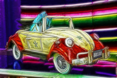 Photograph - Volkswagen - Taking The Beetle To The Beach Painting by Lee Dos Santos