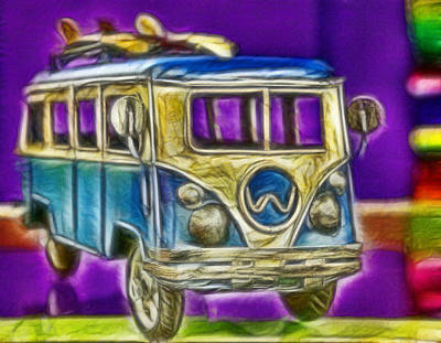 Photograph - Volkswagen - Van On A Surf Mission by Lee Dos Santos