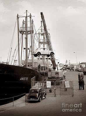Port Kent Photograph - Volkswagen Beetle - Ramsgate - 1960's    #504 by William R Hart