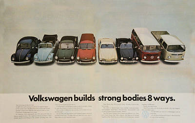 Bug Digital Art - Volkswagen Body Facts by Georgia Fowler
