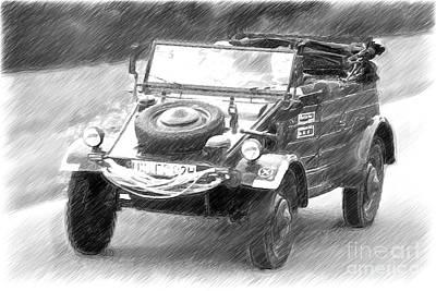 Volkswagen Cross-country Vehicle From 1944 Art Print by Heiko Koehrer-Wagner