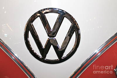 Photograph - Volkswagen Emblem by Pamela Walrath