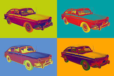 Photograph - Volkswagen Karmann Ghia Pop Art by Keith Webber Jr