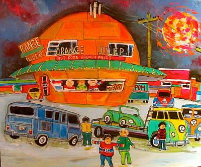 Decarie Strip Painting - Volkswagen Orange Julep 1960 by Michael Litvack