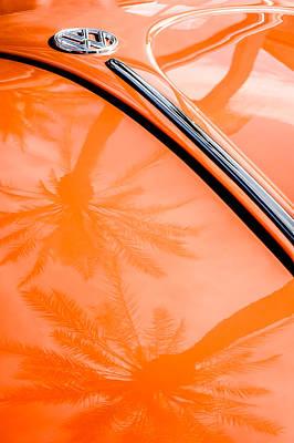 Vw Beetle Photograph - Volkswagen Vw Bug - Beetle Emblem -0164c by Jill Reger