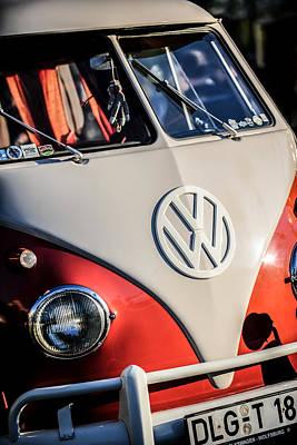Bus Photograph - Volkswagen Vw Bus Emblem -1355c by Jill Reger