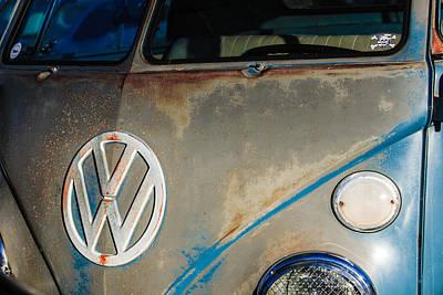 Photograph - Volkswagen Vw Emblem -1562bw by Jill Reger