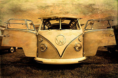 Photograph - Flying Volkswagen Bus by Athena Mckinzie