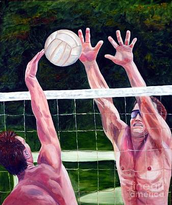 Rawlings Painting - Volleyball Block by Julie Brugh Riffey