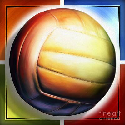 Shevon Mixed Media - Volleyball by Shevon Johnson
