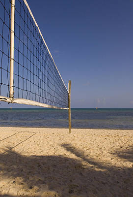 Photograph - Vollyball Net On The Beach by Bob Pardue