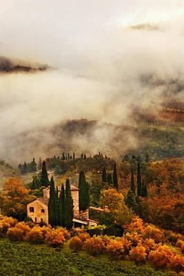 Photograph - Volpaia Villa by John Galbo
