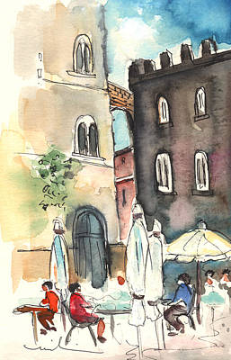 Painting - Volterra In Italy 01 by Miki De Goodaboom