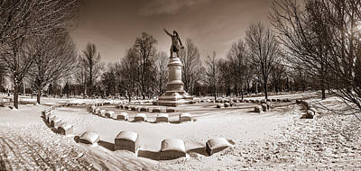 Photograph - Volunteer Firemen Memorial At Forest Lawn #2 by Chris Bordeleau