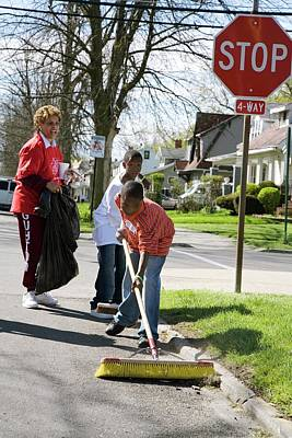 Diverse Photograph - Volunteers Clearing Rubbish by Jim West