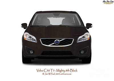 Photograph - Volvo C30 Mighty 8th Black by Art Faul