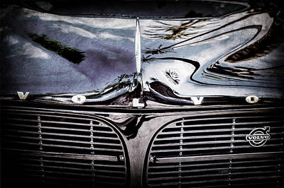 Photograph - Volvo Grille Emblem -0203ac by Jill Reger
