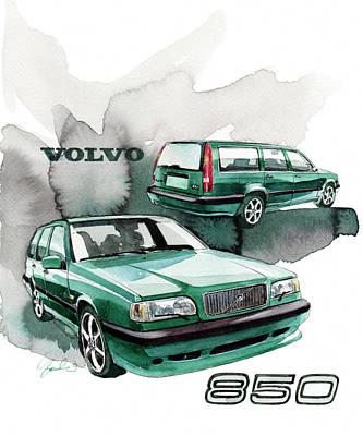 Volvo Painting - Volvo 850 Station Wagon by Yoshiharu Miyakawa