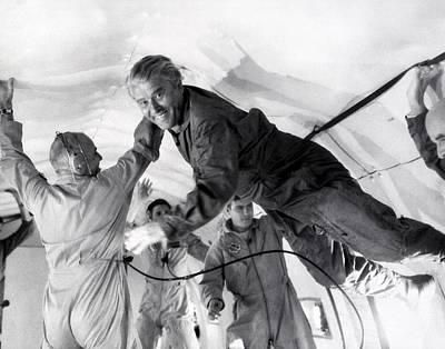 Wernher Von Braun Photograph - Von Braun Weightlessness Flight, 1968 by Science Photo Library