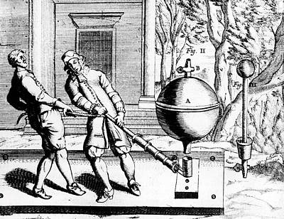 Von Guericke's Second Air Pump Art Print by Universal History Archive/uig