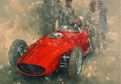 Race Drivers Photograph - Von Tripps Oil On Canvas by Peter Miller