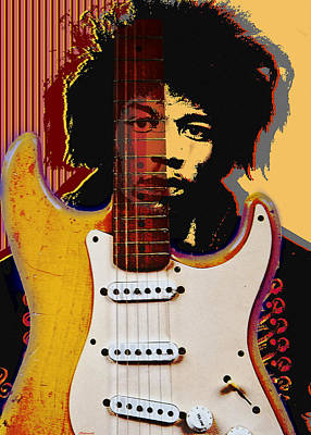 Jimi Hendrix Art Print by Larry Butterworth